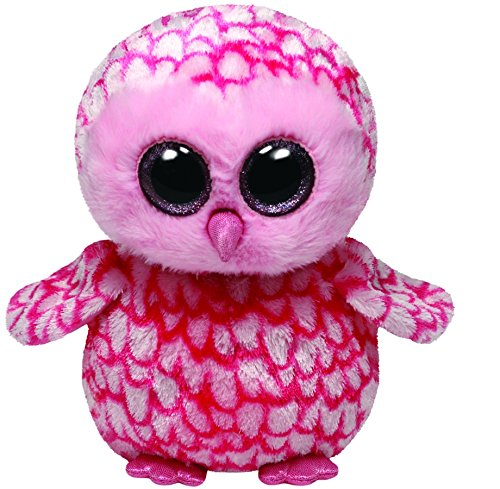 Ty Beanie Boos Buddies Pinky Pink Barn Owl Medium Plush
