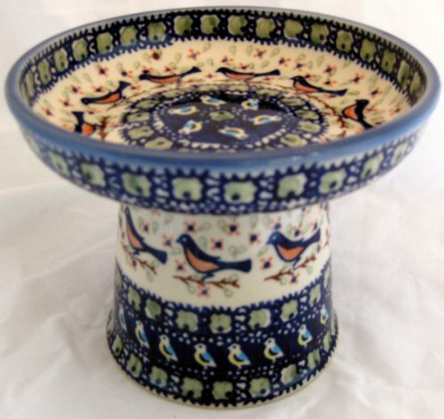 Polish Pottery Raised Stoneware Food Dish or Water Bowl - Limited Edition