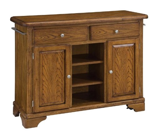 Cheap Kitchen Cart with Wood Top in Oak Finish (VF_HY-9300-1061)