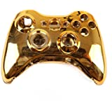 HDE Custom Replacement Wireless Game Controller Shell Case Cover Kit for Xbox 360 (Gold)