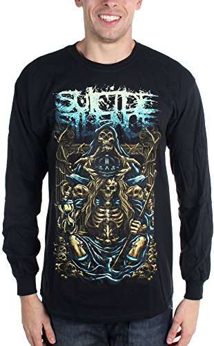 Suicide Silence-Inherit-Maglietta a maniche lunghe da uomo nero Large