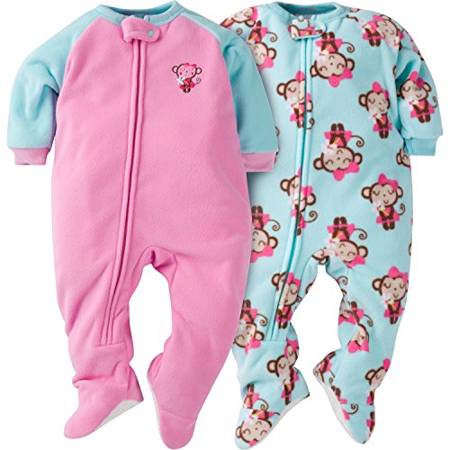 gerber-girls-2-pack-blanket-sleepers-monkey-12-months