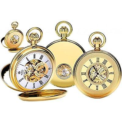 Royal London Pocket Watch 90048-02 Gold Plated Double Half Hunter