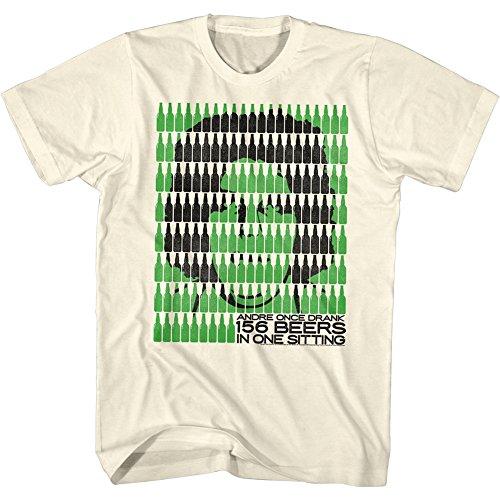 Andre The Giant - - Hommes Cela fait beaucoup de t-shirt Bière, X-Large, Natural