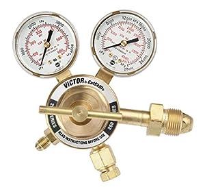Victor Technologies 0781-9134 TPR-250-200-580-CS Light Duty Purging Cylinder Nitrogen/Argon/Helium Regulator, 10-250 psig Delivery Pressure Range, 200 psig Outlet Pressure from Victor