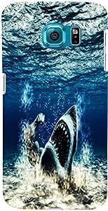 PrintVisa Animal Shark Ocean Case Cover for Samsung Galaxy Note 5 Edge