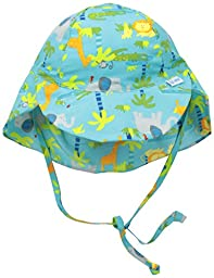 i play. Baby Boys\' Flap Sun Protection Hat, Aqua Jungle, 9-18 Months
