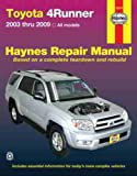 img - for Toyota 4Runner, '03-'09 (Haynes Repair Manual) book / textbook / text book