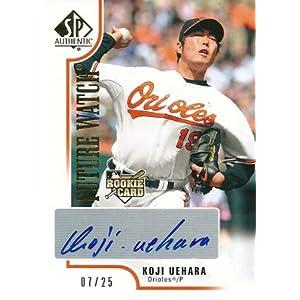 【上原浩治】 2009 SP Authentic Rookie Autograph Gold 25枚限定!(07/25)
