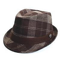 City Hunter Pamoa Pmt420 Flannel Checker Trilby Fedora