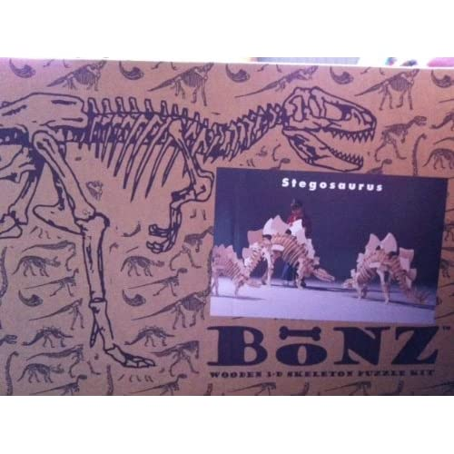 Amazon.com: BONZ WOODEN 3-D SKELETON PUZZLE KIT FOR STEGOSAURUS