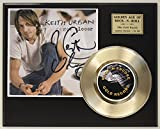 Keith Urban Gold Record Signature Series LTD Edition Display