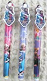 Disney Frozen Olaf Elsa Anna 5.25 3 Different Style Ball Point Pens-brand New!