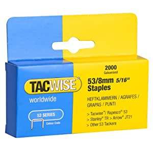 Tacwise Heavy Duty 53 Series Staples 8mm (2000)
