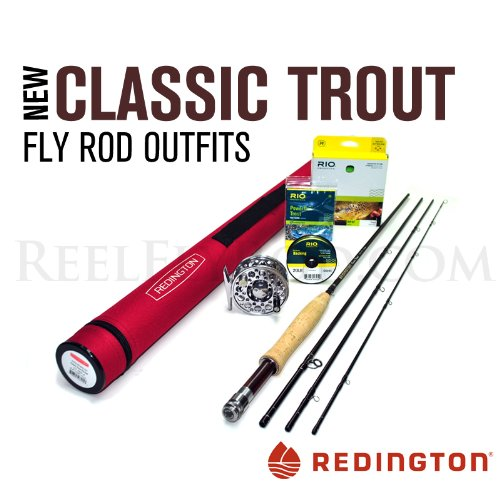 Redington Classic Trout 376-4 Fly Rod Outfit (7'6, 3wt, 4pc)
