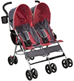 Delta Children Products City Street LX Side by Side Stroller, Grey