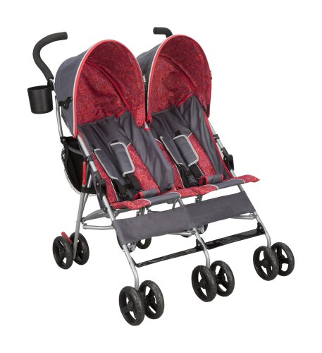 Lowest Prices! Delta Children Products City Street LX Side by Side Stroller, Grey