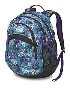 High Sierra Fatboy RVMP Backpack, Aloha/Black/Deep Purple, One Size