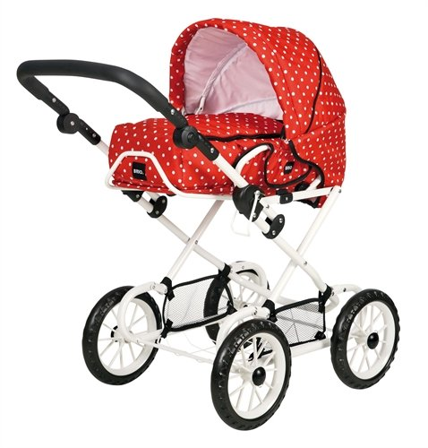 BRIO 90331 BRIO Doll Pram Combi Red with white dots