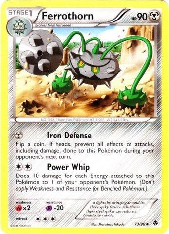 Pokemon - Ferrothorn (73) - Emerging Powers - Reverse Holo