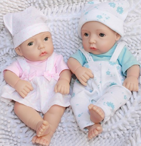 "Reborn Baby Doll Twins 12"" Boy And Girl Lifelike Baby front-1043265"