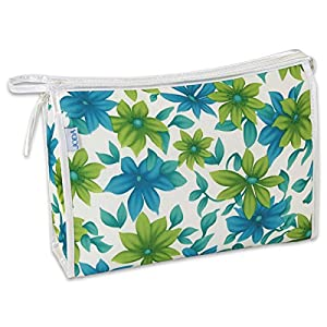 JODA Ladies Blue & Green Flower Travel Toiletry Cosmetic Wash Bag 286-231