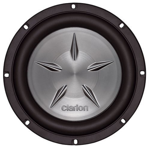 Clarion Sfw1051 10-Inch Single 4 Ohm Voice Coil Shallow Mount Subwoofer