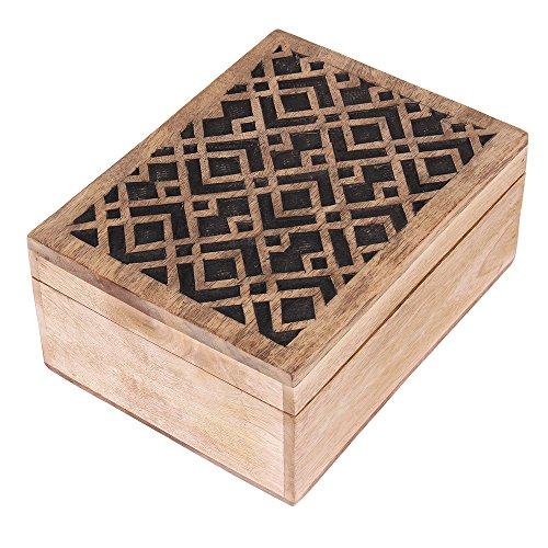 weihnachtsgeschenke holz reactangular schmuck andenken schmuckschachtel speicher organisator. Black Bedroom Furniture Sets. Home Design Ideas