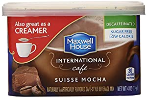 Maxwell House International Coffee Decaf Sugar Free Suisse Mocha Cafe, 4-Ounce Cans (Pack of 4)