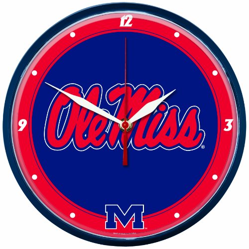 NCAA Ole Miss Rebels Round Clock