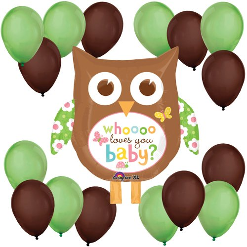 Whoooo Loves You Baby Owl Balloon Kit - 1