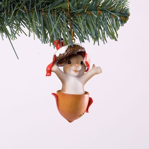 Charming Tails Gone Nutty For Christmas Mouse Ornament
