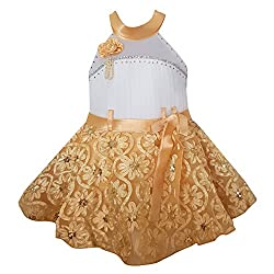 Chokree Cream Color Party Wear Dress/Frock for girl