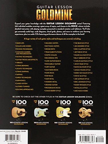 Guitar Lesson Goldmine: 100 Rock Lessons