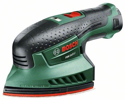 Bosch-DIY-Akku-Multischleifer-PSM-108-LI-Akku-Ladegert-Schleifbltter-Adapter-fr-Staubsauger-Karton-108-V-15-Ah-Schwingzahl-22000-min-1