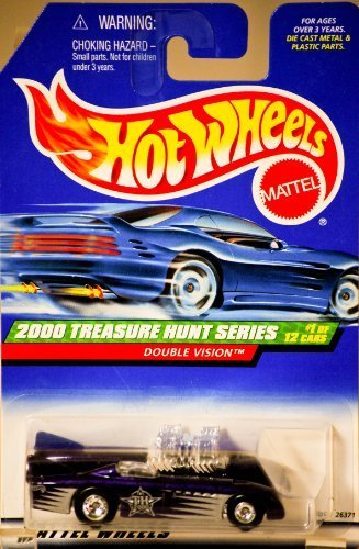 Hot Wheels 2000 049 BLUE DOUBLE VISION TREASURE HUNT SERIES 1 of 12 1:64 Scale Die-cast Collectible Car - 1