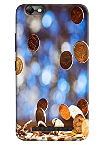 Omnam Currency Coins Lying On Ground Printed Designer Back Case For Lenovo Vibe C (A2020)