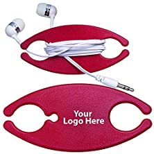 buy 100 Quantity - Earbuds On-A-Caddy Promotional Product / Bulk / Branded With Your Logo / Customized - $2.15 Each