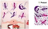 ENFANTS STICKERS MURAUX GRAND Fée fées PRINCESS princesse CAMIONS AUTOCOLLANTS FILLES CHAMBRE DE MUR CHAMBRE DECOR Décoration Sticker Adhesif Mural Géant Répositionnable...