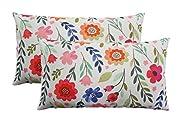 Howarmer Canvas Cotton Throw Pillows for Teen Girls,Pillowcases Set of 2 ,Spring...