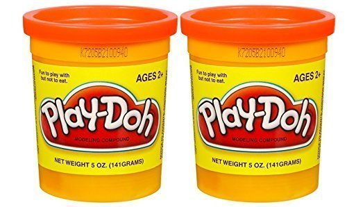 PLAY-DOH Compound Orange - Two, 5 oz Cans (10 oz) - 1
