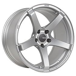 Enkei KOJIN- Tuning Series Wheel, Matte Silver (18×8″ – 5×114.3/5×4.5, 40mm Offset) One Wheel/Rim