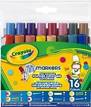 Comprar Crayola - 16 rotuladores con puntas diversas y tinta lavable (58-8709)