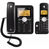 Motorola L402C Corded and Dect 6.0 Combo Phone (Black)