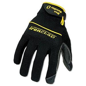 Ironclad : Box Handler Gloves, One Pair, Black, Large -:- Sold as 1 PR