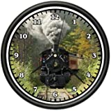 TRAIN Wall Clock track railroad locamotive model r...