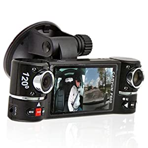 2 7 tft lcd dual camera rotated lens car dvr. Black Bedroom Furniture Sets. Home Design Ideas