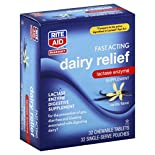 Rite Aid Pharmacy Dairy Relief, Fast Acting, Chewable Tablets, Vanilla Flavor, 32 tablets