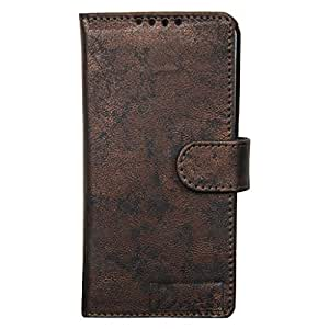 Dsas Artificial Leather Wallet Flip Cover designed for Micromax Canvas 2.2 A114
