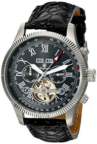 Stansport BM330-122 - Reloj automático para hombre, correa de cuero color negro